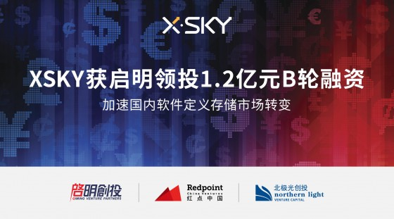 XSKY获启明领投1.2亿人民币B轮融资,加速国内软件定义存储市场转变
